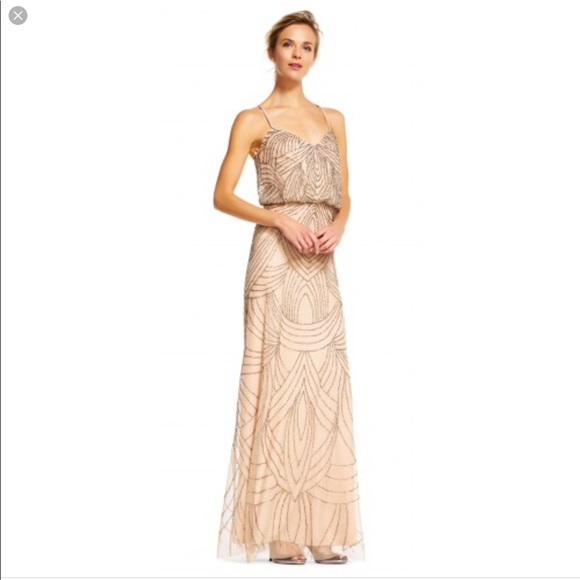 Adrianna Papell Dresses   Beaded Blouson Gown   Poshmark